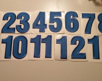 Adhesive Embroidered Numbers