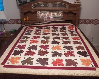 Maple Leaves 63 3/4 X 80 in.