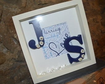 Personalised wedding/anniversary frame