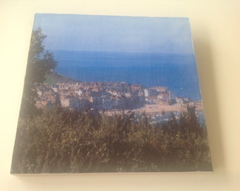 Decoupage Wall Hanging of St Ives Bay Cornwall