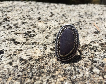 Vilocite and Sterling Silver Ring