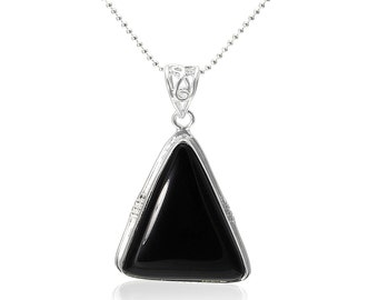 Hand Crafted One of a Kind Black Onyx Pendant