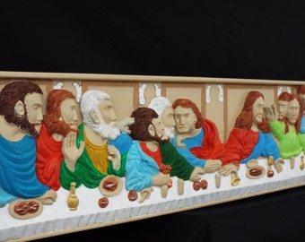 The Last Supper  Wood Relief Carving