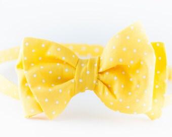 VABIEN Bow Tie Yellow Cotton