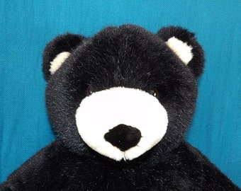 Black Build A Bear Plush Stuffed Teddy Bear Child's Toy