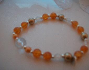 Beaded Amber Bracelet