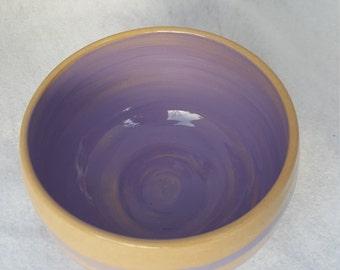 Handmade wheel thrown ceramic bowl
