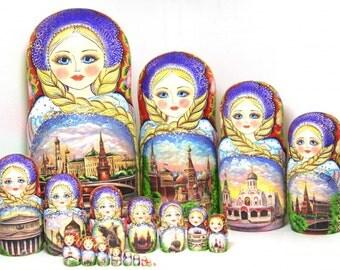 """Matryoshka """"Moscow"""" with 20 seats"""