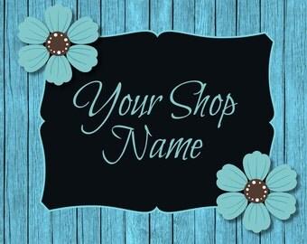 Blue Wood Banner, Wood Banner Set, Shop Banner Set, Banner Set, Banner Design, Custom Banner, Cover Photo, Graphic Design,  Premade Banner,