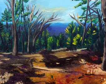 Ozark Landscape, Caney Mountain: Oil Painting Print #2