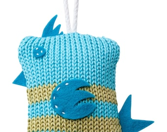 Hand Made Knitted Tiny Birdy Toy - Turquoise