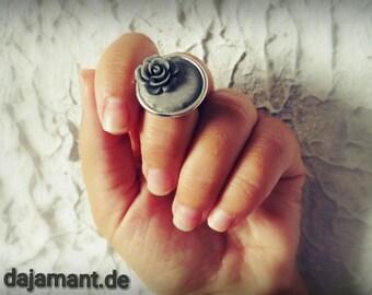 Concrete concrete concrete jewelry flower rose ring jewelry flower