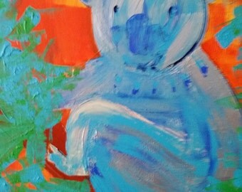 "sold * sold * handmade acrylic painting ""cookie Koala"""