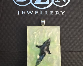 A slice of Shark tropical paradise captured in a pendant
