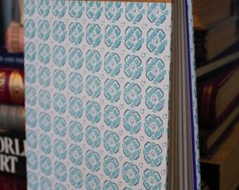 Handmade Blue Flower Book