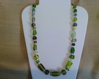 203 Green Dreams Beaded Necklace