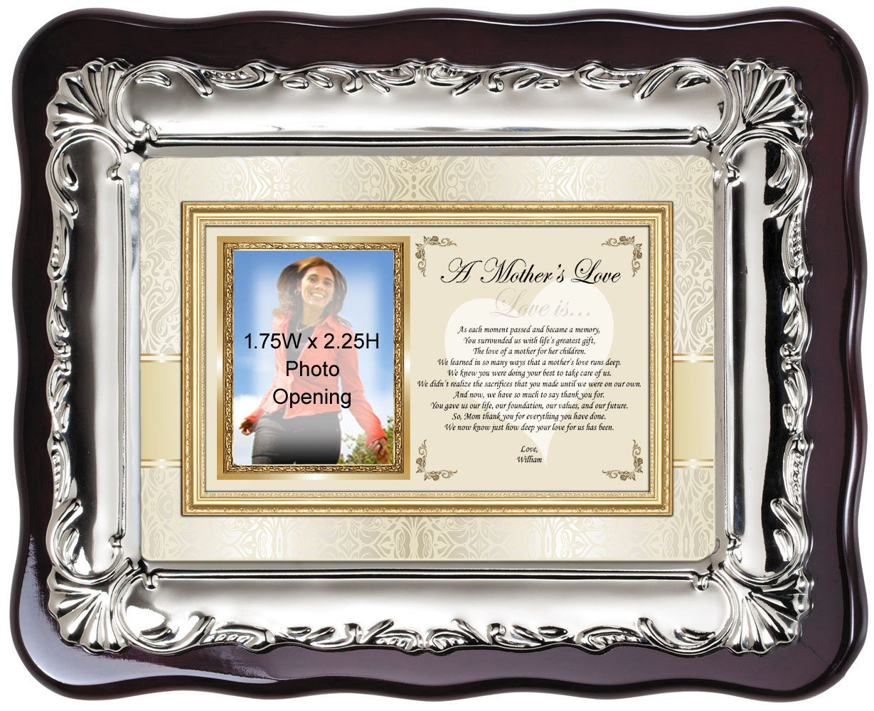 Personalized Wedding Gift For Mom : Personalized Picture Frame Gift for Mom Wedding or Birthday to