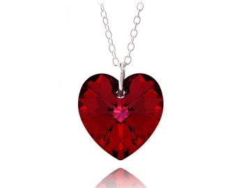 Swarovski Elements Heart Necklace