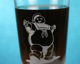 FREE SHIPPING Personalized Ghostbusters Stay Puft Marshmallow Man Inspired glass