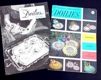 Vintage Doily Design Book, Doilies Book No. 201, 1943, Doilies Star Book No. 145, Vintage Craft and Hobby Book, Vintage Doily Book