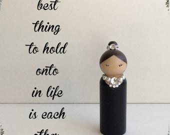 Audrey Hepburn Peg Doll