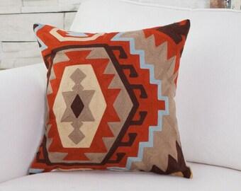Full Emboridery Kilim pillow case