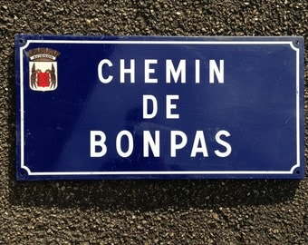 French Street Enamel Sign Plaque - RARE FROM AVIGNON metal bonpas