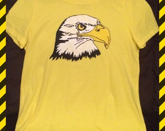 Eagle Head T-shirt Hand Painted