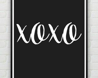 XOXO - Print - Digital Print - Wall Poster - Home Decor