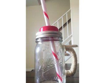 Mason jar drink glass