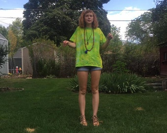 Tie-Dye Yellow and Green T-Shirt
