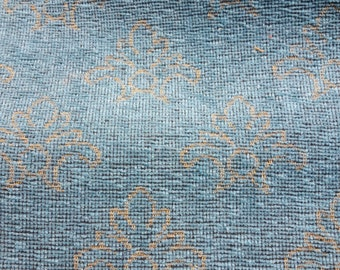 Tapestry Furniture fabric in turquoise, 1.10 m x 1.30 m single piece
