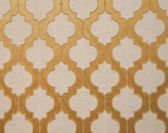 Upholstery/Drapery Jacquard Fabric Santana 400 Gold By The Yard