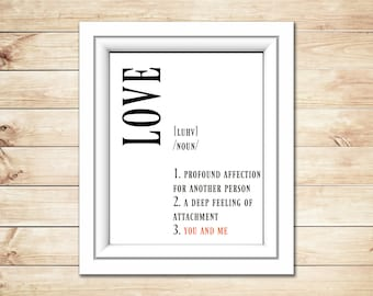 Printable love definition you and me