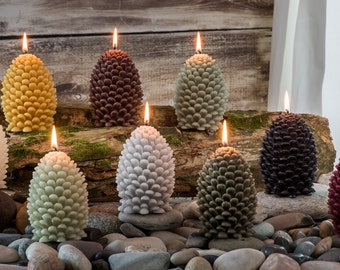 Pinecone Beeswax Candle