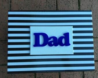 Fathers Day 'Dad' Gift  / Keepsake Box (Medium - 24-34cm)