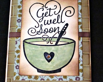 Get Well Handmade Card - Stampin' Up