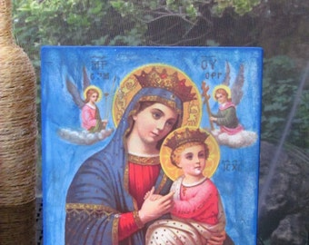 Our Lady of Perpetual Help - BLUE