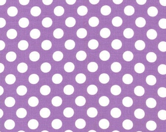Purple Polka Dot -Ta Dot Fabric by Michael Miller - Last 1/2 Yard