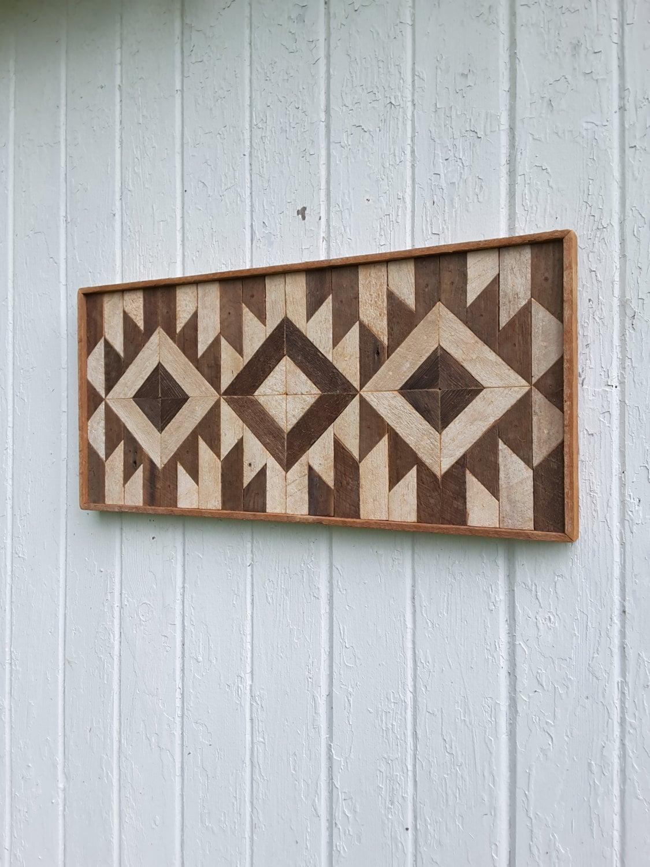 reclaimed wood wall art wall decor lath art mosaic diamonds. Black Bedroom Furniture Sets. Home Design Ideas