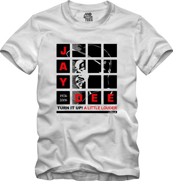 J Dilla white T-Shirt MPC Pads Doughnuts Shining Graphic Tee Jay Dee SV Hip-Hop super producer