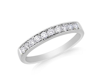 R097 Diamond Half eternity Ring