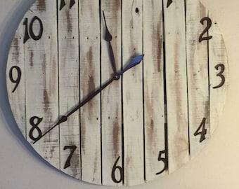 Antiqued Wall Clock