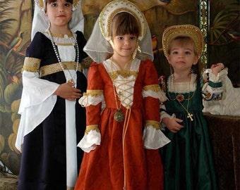 Renessaince girls costumes