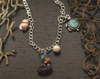 Turtle and Shell Charmer Necklace