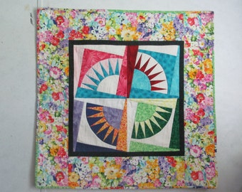 New York Beauty Quilted Wall Hanging