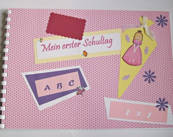 My first day of school, memory album for girls