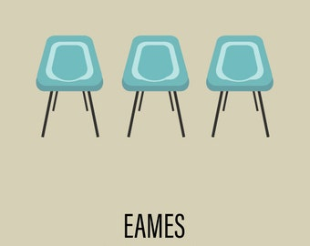 Eames Mid-Century Chair Art print