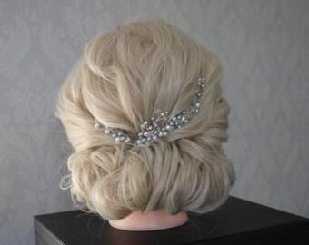 Wedding Hair Accessories, Bridal Hair Peices, Formal Hair Piece, Hair accessories, glass pearls