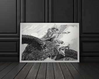 Fly, You Fools!  12x18 Wall Art